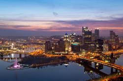 Pittsburgh at dusk.