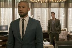 """Jussie Smollett, left, and A.Z. Kelsey in a scene from the """"Pride"""" episode of """"Empire."""""""