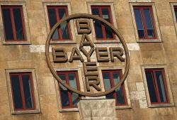 The logo of the Bayer company displayed at a company's building in Leverkusen, Germany, Wednesday, Feb. 27, 2019