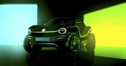 This undated picture provided by the Volkswagen car manufacturer shows a Volkswagen Buggy electric car