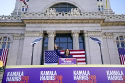 In this Jan, 27, 2019, file photo, Sen. Kamala Harris, D- Calif.