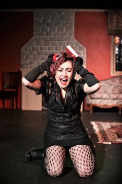 "Vivienne Carrette as Lizzie Borden in ""Lizzie Borden, Lizzie Borden."""