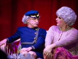 "Joey Lachimia and Blake Siskavich in ""Sophia's Choice: A Lost Golden Girls Episode"" continues through April 7th at Boston's Club Café."