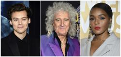 Harry Styles, from left, Brian May and Janelle Monae