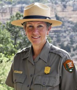 This May 19, 2018 file photo released by the National Park Service shows Grand Canyon National Park Superintendent, Christine Lehnertz at Grand Canyon National Park.