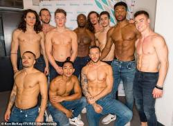 """Cast members of """"Magic Mike,"""" a Broadway musical, are seen in the stock image. Callbacks for the musical have been plagued with a mysterious pooper."""