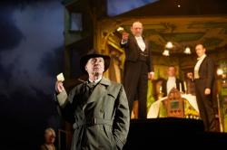"""A scene from the touring production of """"An Inspector Calls"""" at the Emerson Cutler Majestic Theatre through March 24."""