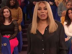 "Wendy Williams addresses the audience on March 19, 2019 as to her living in a ""sober house."""