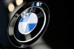 The logo of German car manufacturer BMW is pictured on a BMW car prior to the earnings press conference in Munich, Germany, Wednesday, March 20, 2019