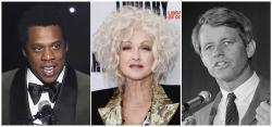 From left to right: Jay-Z, Cyndi Lauper and Sen. Robert F. Kennedy.
