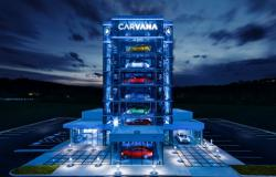 Carvana's newest Car Vending Machine stands eight stories high, and holds up to 27 vehicles