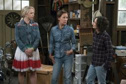 "Lecy Goranson, from left, Laurie Metcalf and Sara Gilbert in a scene from ""The Connors."""