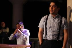"""David Rabinow and Andrew Iacovelli in """"Our Town,"""" at the Burbage Theatre Company through April 7."""