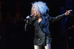 """Cyndi Lauper performs at the 8th annual """"Home for the Holidays"""" benefit concert."""