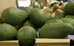 California-grown avocados are for sale at a market in Mountain View, Calif.