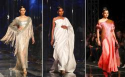 Lotus make up India Fashion Week in New Delhi, India.