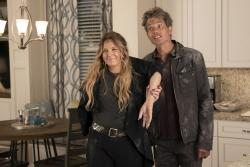 """Drew Barrymore, left, and Timothy Olyphant, right, in a scene from """"Santa Clarita Diet."""""""