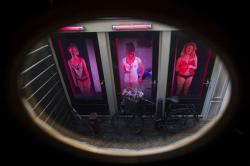Red Light Secrets Museum of Prostitution in Amsterdam's red light district.