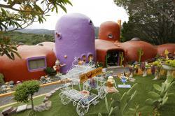 The Flintstone House in Hillsborough, Calif.