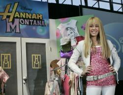 "Miley Cyrus, star of The Disney Channel's series ""Hannah Montana"" makes an appearance at the Licensing International Expo in New York in 2007."