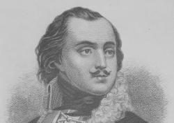 A copy of an engraving of Count Casimir Pulaski published in 1871.