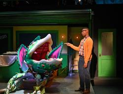 "Audrey II and Jude Sandy in ""Little Shop of Horrors"" at the Trinity Repertory Company through May 12."