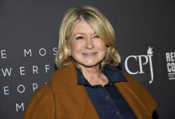 In this April 11, 2019, file photo, television personality Martha Stewart attends The Hollywood Reporter's annual Most Powerful People in Media cocktail reception at The Pool in New York