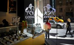 Godiva's new cafe in New York City.