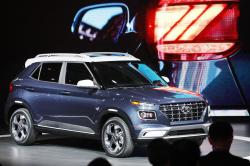 The 2020 Hyundai Venue is shown at the New York Auto Show, Wednesday, April 17, 2019