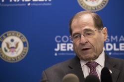U.S. Rep. Jerrold Nadler, D-N.Y., chair of the House Judiciary Committee, speaks during a news conference, Thursday, April 18, 2019, in New York