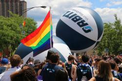 Orbitz at the Chicago Pride Parade