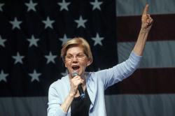 Democratic presidential candidate Sen. Elizabeth Warren, D-Mass., speaks during a campaign rally Wednesday, April 17, 2019, in Salt Lake City