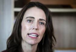 New Zealand Prime Minister Jacinda Ardern speaks to media at her electorate office in Aukland, New Zealand Wednesday, April 24, 2019