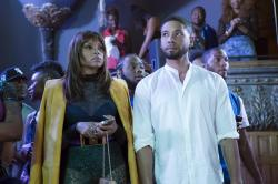 "Taraji P. Henson, left, as Cookie Lyon and Jussie Smollett as Jamal Lyon in the ""My Bad Parts"" episode of the television series, ""Empire."""