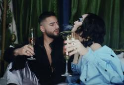 "Maluma and Madonna in the music video for ""Medellin."""
