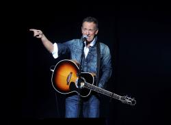 Bruce Springsteen performs at the 12th annual Stand Up For Heroes benefit concert at the Hulu Theater at Madison Square Garden in New York.