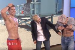 "Ellen DeGeneres and Zac Efron on the ""Ellen"" show."