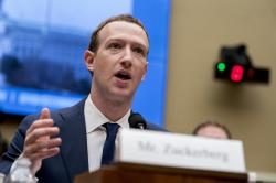 In this April 11, 2018, file photo, Facebook CEO Mark Zuckerberg testifies before a House Energy and Commerce hearing on Capitol Hill in Washington