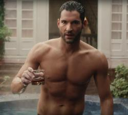 "Tom Ellis in the Netflix teaser for ""Lucifer."""