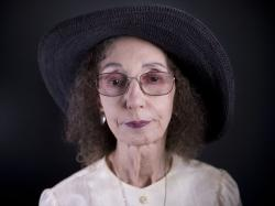 American author Joyce Carol Oates poses for a photo in Jerusalem, Sunday, May 12, 2019