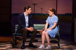 "Steven Good and Christine Dwyer in ""Waitress."""