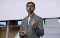 Google CEO Sundar Pichai speaks during the keynote address of the Google I/O conference in Mountain View, Calif., Tuesday, May 7, 2019