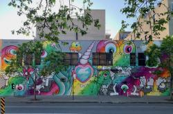 Buff Monster mural.