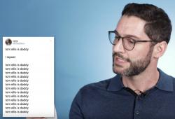 Tom Ellis reads tweets for BuzzFeed.