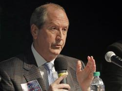 In this Tuesday, May 7, 2019 file photo, State Sen. Dan Bishop answers a question during a debate among Republican candidates for the 9th congressional district in Monroe, N.C. Bishop on Tuesday, May 14, 2019, topped nine other GOP candidates seeking the 9th Congressional District nomination with almost half of the ballots cast