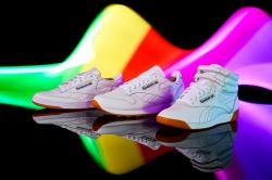 A promotional photo by Reebok of its Pride sneakers.