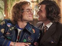 "Taron Egerton, left, and Richard Madden, right, in ""Rocketman."""