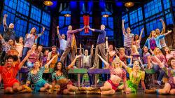 """This image released by Fathom Events shows the cast during a performance of the musical """"Kinky Boots."""""""
