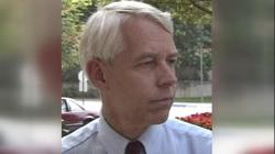 This 1992 image made from video provided by WBNS-TV, shows Dr. Richard Strauss.