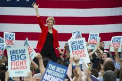 In this May 16, 2019, photo, Democratic presidential candidate Sen. Elizabeth Warren, D-Mass.